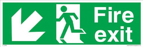 Running man Down Left Fire Exit